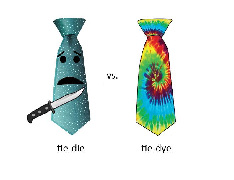tie-dye vs tie-die